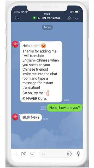making use of line messenger