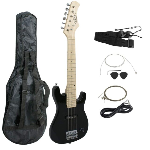 Features of Full Size Black Electric Guitar