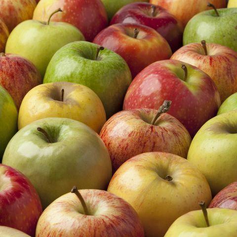 Fibers in apple