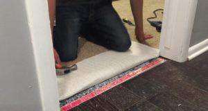 Installing Carpet at Doorway