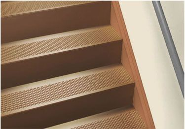 The installation method for rubber stair treads