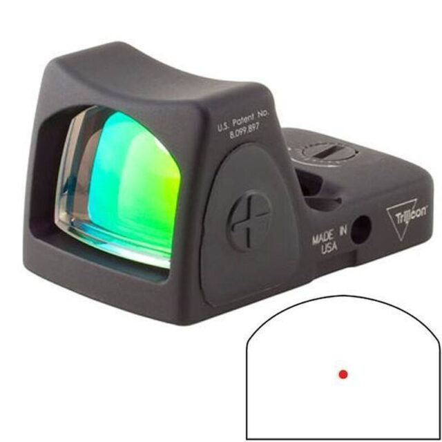 Features of the Trijicon RMR 3.25 MOA Adjustable LED Red Dot Sight