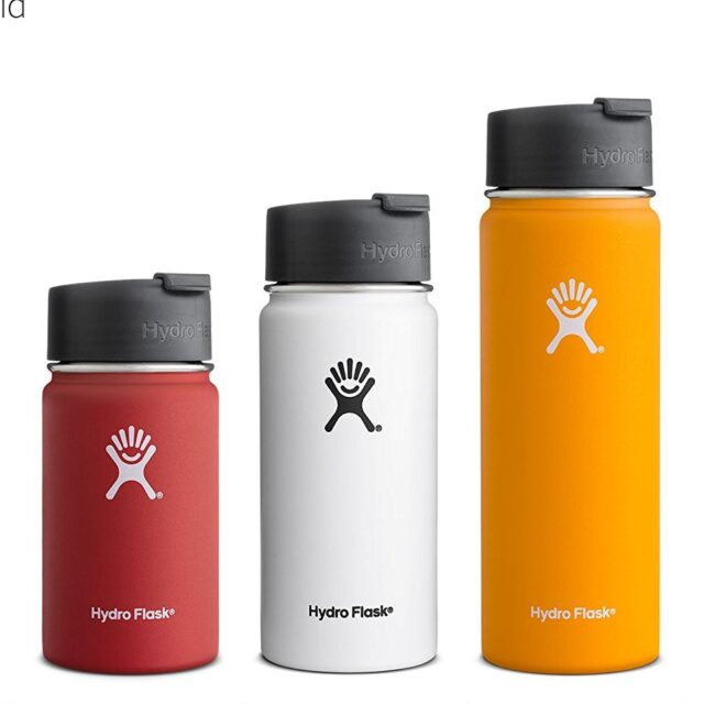Hydro Flask Vacuum Insulated Stainless Steel Water Bottle, Wide Mouth w/ Hydro Flip Cap