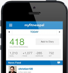 My fitness pal for Iphone