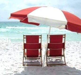 Rio Brands Hi-Boy Beach Chair with Canopy and Pillow