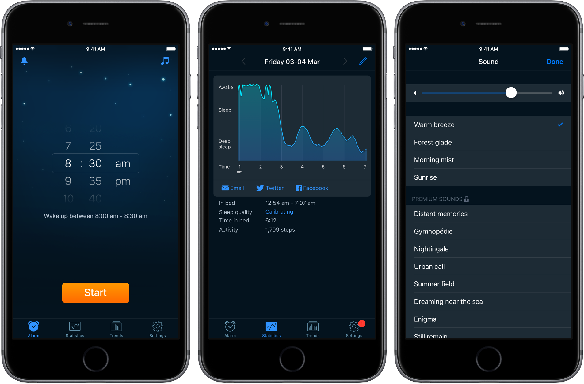Sleep cycle for Iphone
